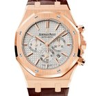 Audemars Piguet ROYAL OAK CHRONO 41MM ROSE GOLD WHITE DIAL