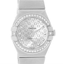 Omega Constellation 27mm Diamond Ladies Watch 123.15.27.60.52.001