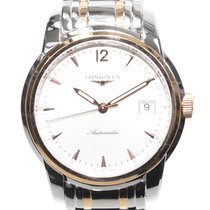 Longines Saint Imier 18k Rose Gold And Steel Silver Automatic...