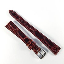 Longines 13mm red alligator leather strap with pin buckle NEW