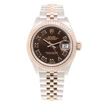 Rolex Lady Datejust 18k Rose Gold And Steel Brown Automatic...