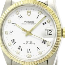 Tudor Polished  Prince Oyster Date Diamond 18k Gold Steel...