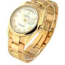 Rolex Used 118205 Mens Rose Gold Day Date President with...