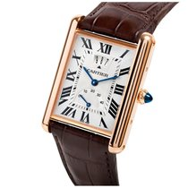 Cartier Tank Louis w1560003 18kt Rose Gold Manual Wind NEW