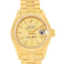 勞力士 (Rolex) President Datejust Ladies Yellow Gold Linen Dial...