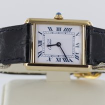 Cartier Paris Vermeil Tank Quartz Argent 925 Silber vergoldet