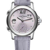 Ulysse Nardin Classic Dual Time Stainless steel & Diamonds...