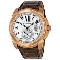 Cartier Calibre De Cartier Silver Dial Mechanical Mens Watch...
