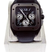 Cartier Santos 100 XL Chrono Black Titanium Watch W2020010