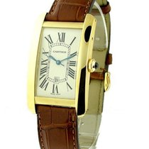 Cartier W2603156 Tank Americaine - Large Size - Yellow Gold on...