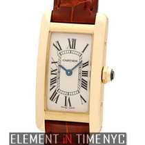 Cartier Tank Collection Tank Americaine Ladies 18k Yellow Gold...