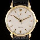 Rolex 18k Y/G Honeycomb Precision Tear Drop Lugs Wristwatch 4514