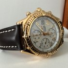 Breitling Crosswind Yellow Gold Clasp White Roman Dial 43 mm...