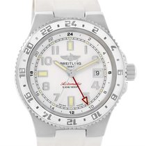 Breitling Superocean Gmt White Dial Rubber Watch A32380a9-a737...