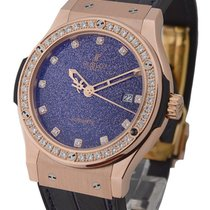 Hublot Classic Fusion 42mm in Rose Gold with Lapiz Dial