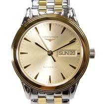 Longines Flagship Pvd Gold Gold Automatic L4.799.3.32.7