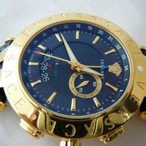 Versace V-RACE WATCH 29G70D282-S282 GMT Alarm, date, gold,...