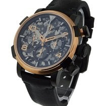 Romain Jerome Pinup DNA Black in Black PVD Steel with Rose...