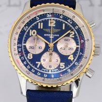 Breitling Navitimer Chronograph 92 blue Stahl Gold Klassiker...