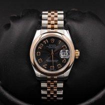 Rolex Datejust - Ladies - 179161 - 26mm - Black Concentric...
