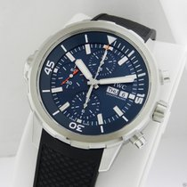 IWC IW376805 Aquatimer Chronograph Blue Dial Jacques Cousteau NEW