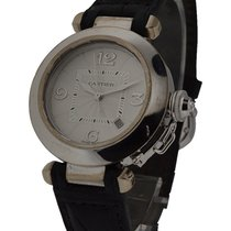 Cartier WJ111136 Pasha 32mm White Gold - on Strap with Diamond...
