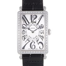 Franck Muller Long Island Womens Quartz Steel Diamond Watch...