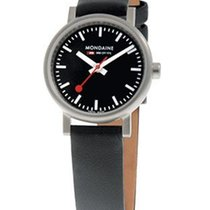 Mondaine EVO Ladies - Black Dial and Strap - Brushed 26mm Case