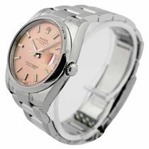 Rolex Oyster Perpetual Date 34 Pink Dial Index Domed Oyster...