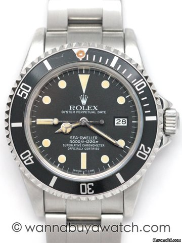 Rolex Sea-Dweller Transitional Matte Dial / stk#31372