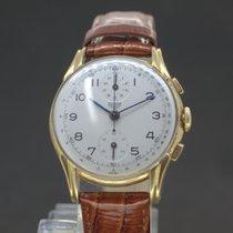 Heuer Chronograph Handaufzug White Dial vergoldet  von 1940