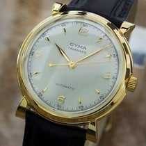 Cyma Swiss Made Bumper Automatic 1950s Vintage Gold Plated...
