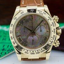 Rolex 116518 Daytona 18K Yellow Gold / Black MOP Dial (24758)