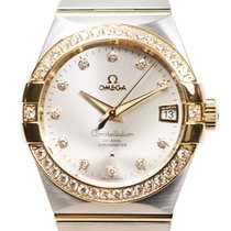 Omega Constellation 18k Gold Diamond Steel Silver Automatic...