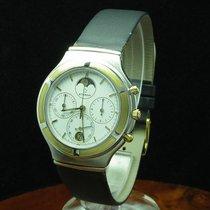 Eterna Airforce 18kt Gold / Edelstahl Chronograph Mondphase /...