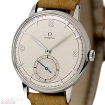 Omega Vintage Jumbo Gentleman Watch Stainless Steel Bj-1950