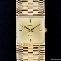 Juvenia Macho Square 18k Yellow Gold Champagne Dial 30mm Box