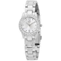 Guess W0889l1 Ladies Dress Watch Stainless Steel Silver-tone...