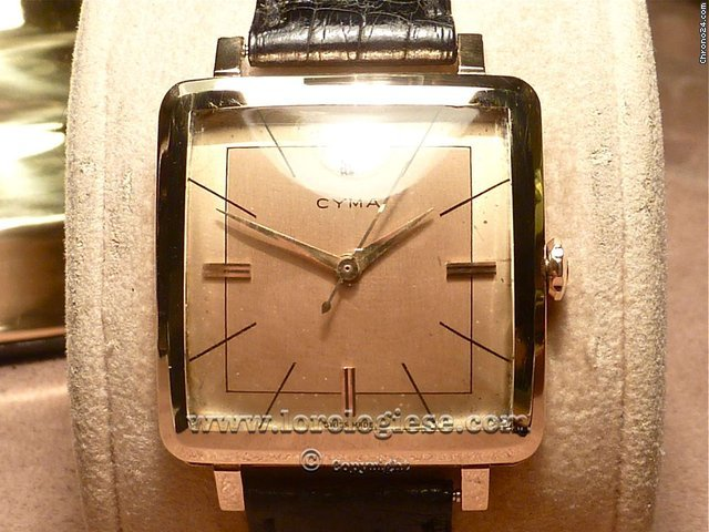 Cyma Gran Carre CIOCCOLATONE Automatic - Solid Pink Gold Oversize