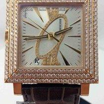Boucheron Automatic 18k Pink Gold Diamond Square WA011307