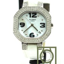 Clerc c-one mother of pearl white diamonds quartz NEW