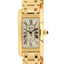 Cartier Tank Americaine 1725 In Yellow Gold 18kt