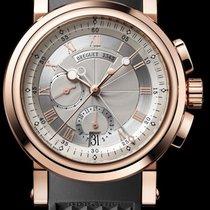 Breguet [NEW] Marine Chronograph 5827BR/12/5ZU Silver Dial Mens