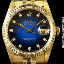 Rolex Datejust 16018 Unpolished 18k Blue Vignette