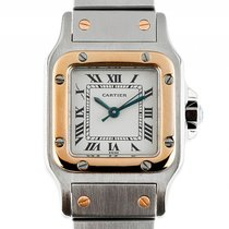 Cartier Santos PM kleines Modell Stahl Gelbgold Automatik...