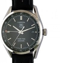 TAG Heuer Carrera Twin Time Automatic Stahl 39mm