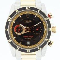Tudor Grandtour Fly-Back 18K Rose Gold & SS Box &...