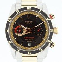 Tudor Grandtour Fly-Back 18K Rose Gold & SS Box &...