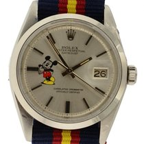 Rolex Datejust 1603 Automatic Custom Mickey Mouse Silver Dial...