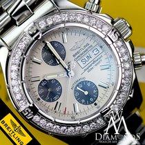 Breitling Diamond Breitling A13340 Super Ocean Stainless Steel...